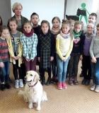 Viršuliškių vaikai mokėsi saugiai bendrauti su šunimi