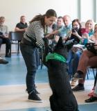 Mokytojai išklausė paskaitą apie saugų bendravimą su šunimis